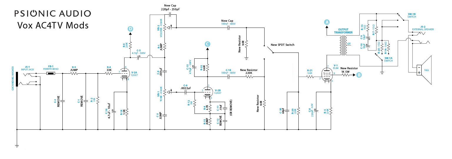Nouveau Vox AC4, AC4TV, AC4TVH (page 356) - Ampli et ... on