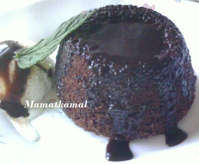 chocolate pudding/pudding au chocolat!