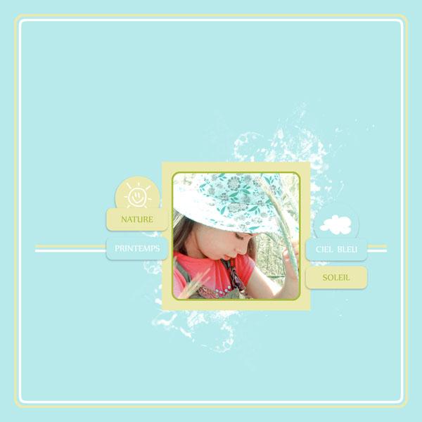 petit air printanier kit digiscrap simplette page simplette RAK Celosie