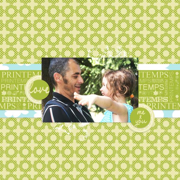 petit air printanier kit digiscrap simplette page simplette RAK Sarayane