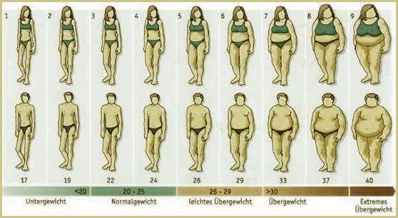 Figur normalgewicht Normalgewicht bei