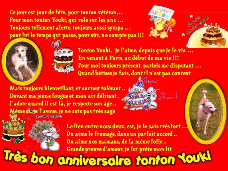 Diamond et hector les goldinoux bon anniversaire tonton youki - Poeme anniversaire tata ...