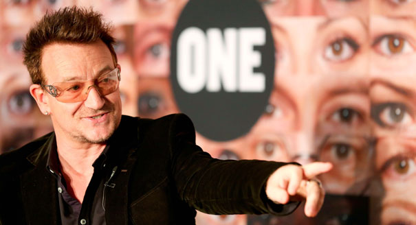 Bono salue le choix d'Obama pour le commerce international