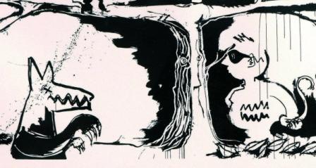 Un dessin de Bono aux enchères