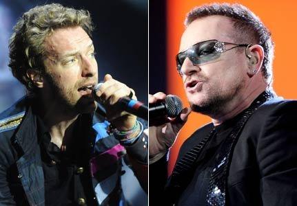 U2 enregistre avec Chris Martin