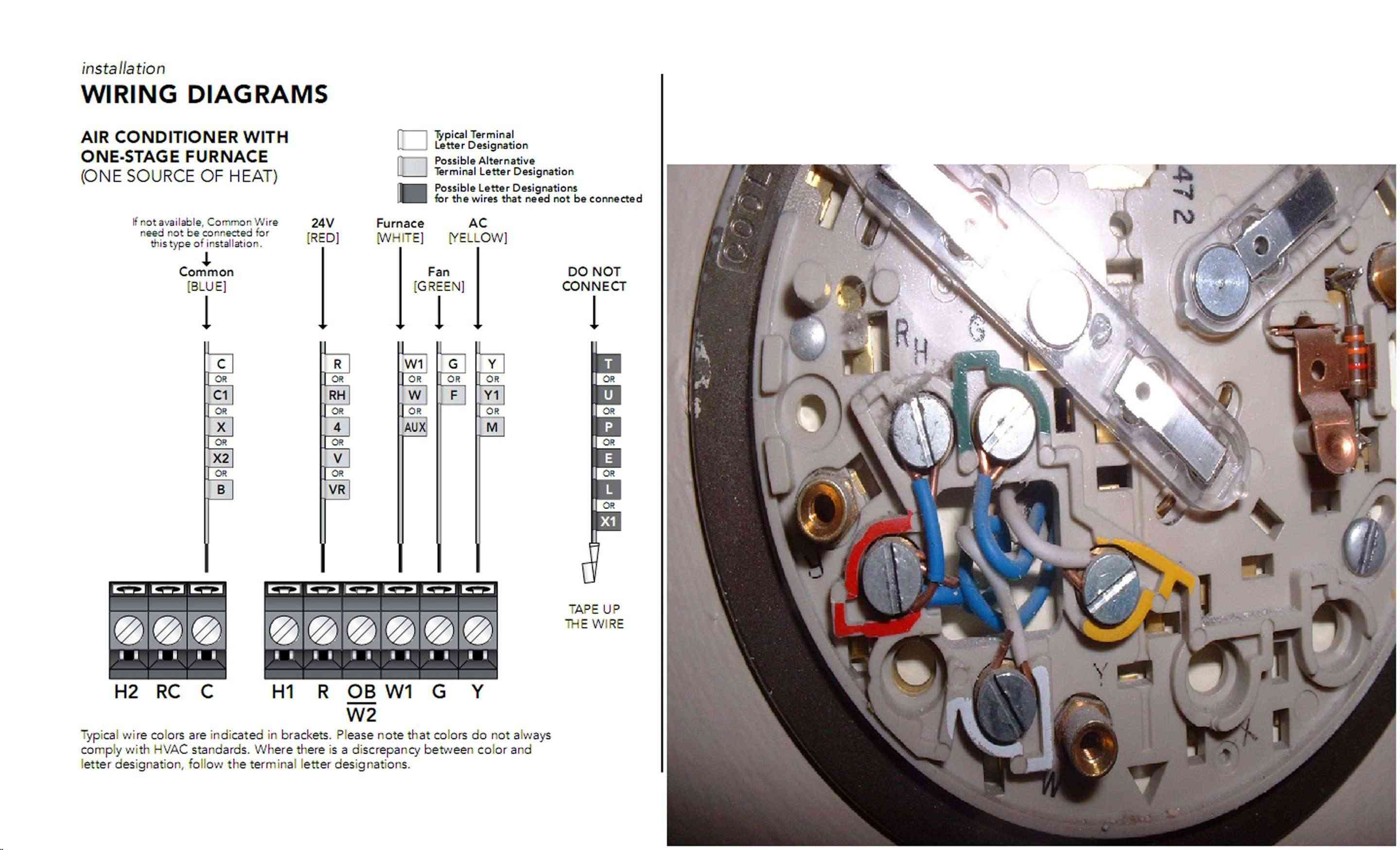 Honeywell Thermostat Wiring Diagram Rth230b Rth2510b Diagrams 538433 New Install