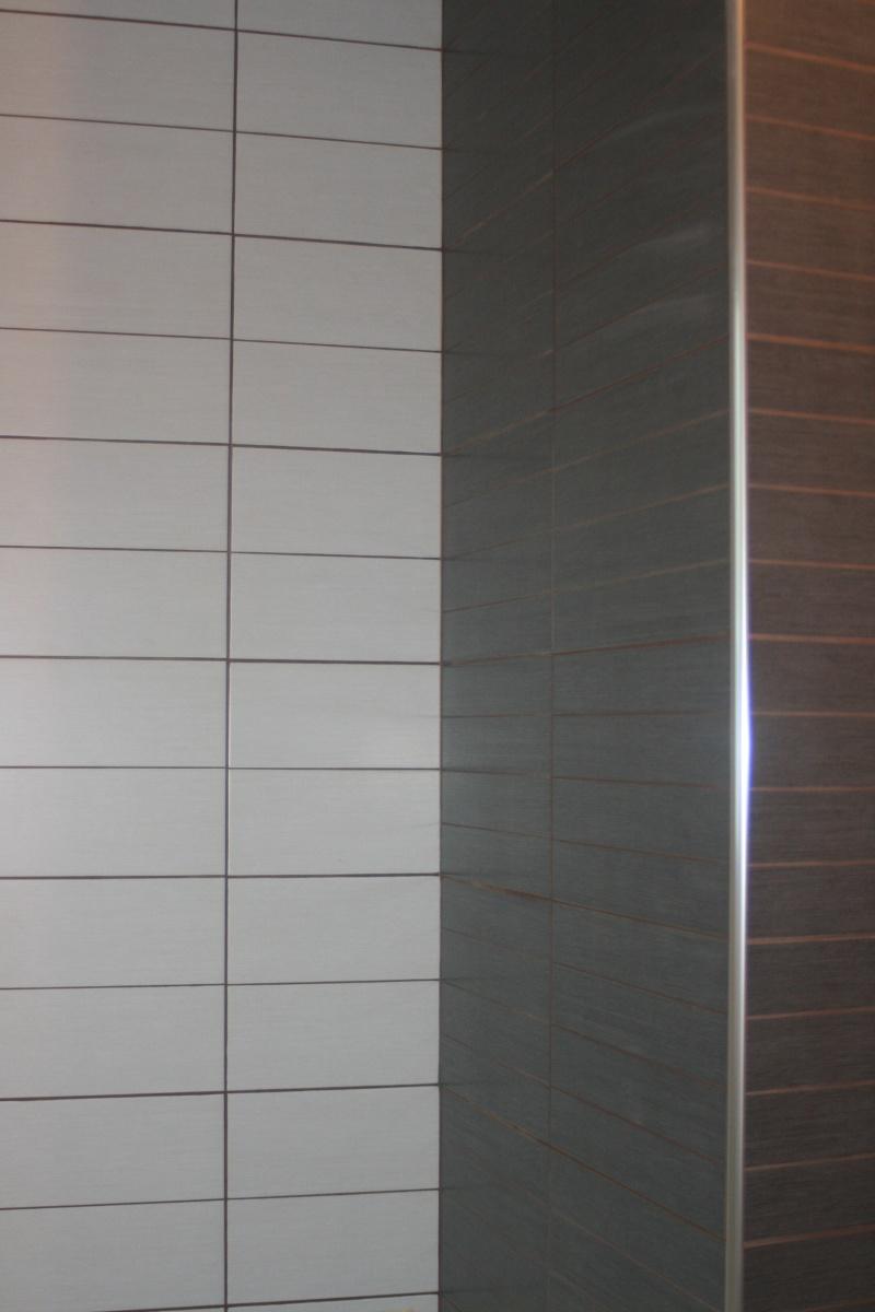 La salle de bains familiale pas grande id es couleur for Baignoire couleur grise