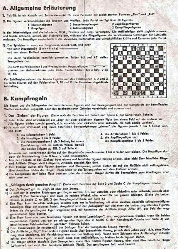 Tak tik jeu d 39 checs militaire de la propagande nazie - Comment fabriquer le jeu tac tik ...