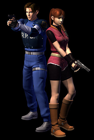 personnages léon kennedy claire redfield resident evil 2 ps1
