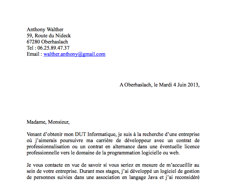exemple lettre de motivation licence 3 biologie