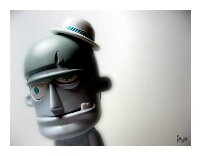 head of The Beat Up Boxer by Breanzz