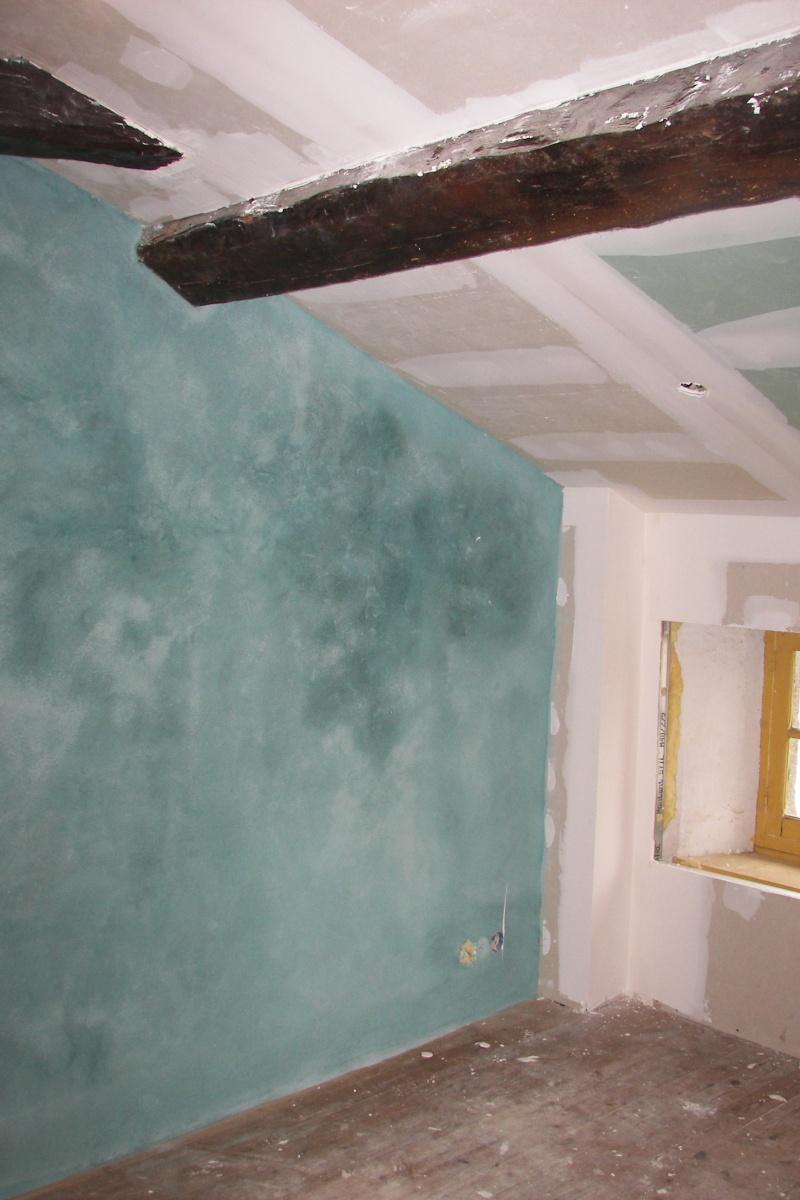 la chambre bleuevue de lentree - Peindre Une Chambre Mansardee
