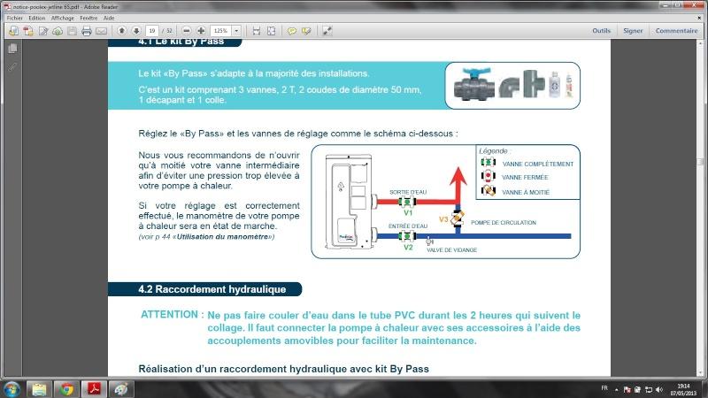By pass pompe a chaleur piscine good pompe chaleur with for Reglage filtration piscine