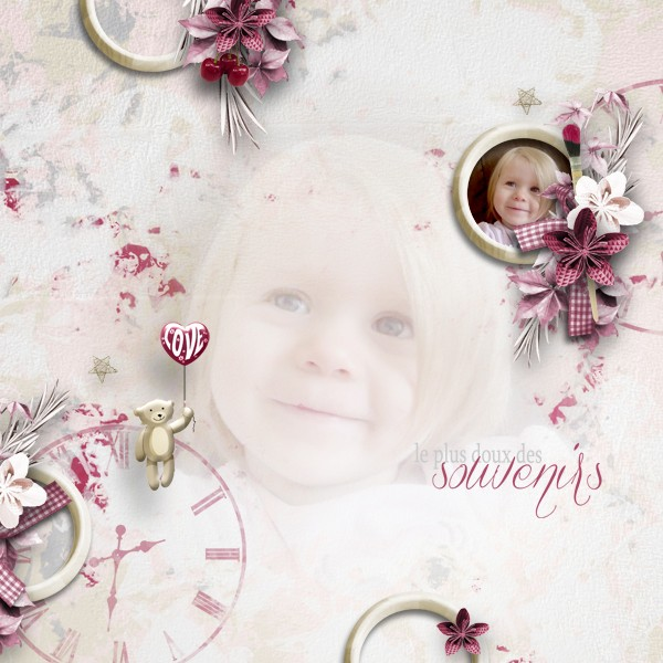 cherry love and roses kit simplette page tigroune