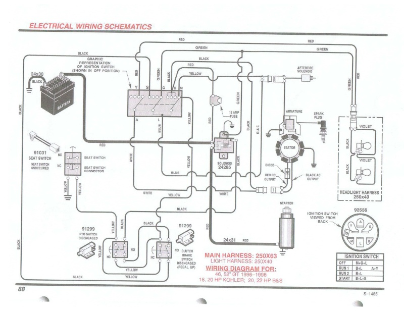wiring diagram for hp kohler engine the wiring diagram cant use a key to start tractor wiring diagram